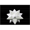 Ceramic 12 Point Stellated Icosahedron Sculpture SM Gloss Finish White