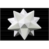 Ceramic 12 Point Stellated Icosahedron Sculpture LG Gloss Finish White