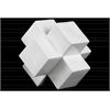 Ceramic Cross Cube Sculpture LG Gloss Finish White