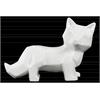 Ceramic Standing Fox Figurine Gloss Finish White