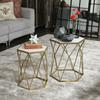 Ceramic 12 Point Stellated Icosahedron Sculpture LG Marbleized with Gray Streaks Gloss Finish White