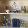 Stoneware Star Ball Figurine Gloss Finish White