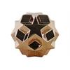 Stoneware Star Ball Figurine Gloss Finish Copper
