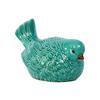 Ceramic Nodding Bird Figurine Gloss Finish Turquoise