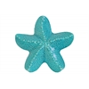 Ceramic Red-knobbed Sea Star Figurine Gloss Finish Turquoise
