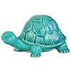 Ceramic Galapagos Tortoise Figurine Gloss Finish Turquoise