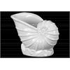 Ceramic Nautilus Seashell Sculpture Gloss Finish White