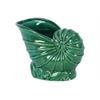 Ceramic Nautilus Seashell Sculpture Gloss Finish Turquoise