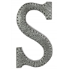 "Metal Alphabet Wall Decor Letter ""S"" with Rivets Galvanized Finish Silver"