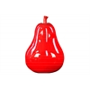 Ceramic Pear Figurine Gloss Finish Red