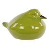 Ceramic Wren Bird Figurine LG Gloss Finish Yellow Green