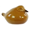 Ceramic Wren Bird Figurine LG Gloss Finish Brown