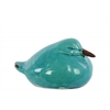 Ceramic Wren Bird Figurine SM Gloss Finish Turquoise