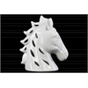 Ceramic Horse Head with Cutout Design Gloss Finish White