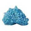 Ceramic Conch Seashell Figurine Matte Finish Deep Sky Blue