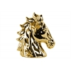 Ceramic Horse Head with Cutout Sides Polished Chrome Finish Gold