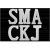 "Ceramic Alphabet Tabletop Decor Letter ""SMACKJ"" Assortment of Six LG Gloss Finish White"