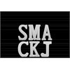 "Ceramic Alphabet Tabletop Decor Letter ""SMACKJ"" Assortment of Six SM Gloss Finish White"