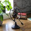Metal Orb Dyson Sphere Design with Directional Arrow and Pedestal Coated Finish Black