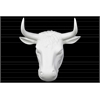 Porcelain Wall Mount Bull Head Matte Finish White