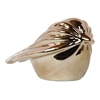 Ceramic Polygonal Swift Bird Figurine Polished Chrome Finish Gold