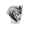Ceramic Nodding Horse Head Polished Chrome Finish Silver