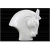 Ceramic Nodding Horse Head Polished Gloss Finish White