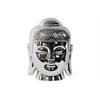 Porcelain Buddha Head with Rounded Ushnisha Polished Chrome Finish Silver