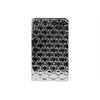 Porcelain Broad Rectangular Vase LG Octagonal Patterned Polished Chrome Finish Silver