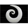 Ceramic Spiral Sculpture with Embossed Circle Design LG Gloss Finish White