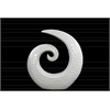 Ceramic Spiral Sculpture with Embossed Circle Design SM Gloss Finish White
