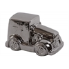 Ceramic Car Figurine Polished Chrome Finish Silver