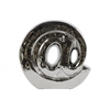 "Ceramic ""@"" Symbol Decorative Sculpture Polished Chrome Finish Silver"