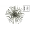 Metal Sea Urchin Ornamental Sculpture  Wall Decor LG Coated Finish Champagne
