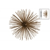 Metal Sea Urchin Ornamental Sculpture  Wall Decor LG Coated Finish Gold