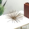 Metal Sea Urchin Ornamental Sculpture  Wall Decor MD Coated Finish Gold