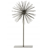 Metal Sea Urchin Ornamental Sculpture Decor on Stand LG Coated Finish Champagne
