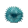 Ceramic Radial Seashell Sculpture Gloss Finish Blue