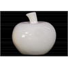 Ceramic Apple Figurine Gloss Finish White