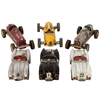 Resin Vintage Racing Cars Miniature Replica Sculpture Assortment of Six Painted Finish Assorted Color (Dark Red, Yellow, Zinc, Silver, Black and White)