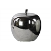 Ceramic Apple Figurine Polished Chrome Finish Silver