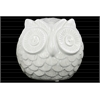 Ceramic Spherical Owl Figurine LG Gloss Finish White