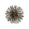 Metal Ball of Looped Ribbon Sculpture LG Electroplated Finish Champagne
