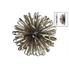 Metal Ball of Looped Ribbon Sculpture Wall Decor LG Electroplated Finish Champagne
