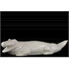 Ceramic Crocodile Figurine LG Gloss Finish White