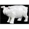 Ceramic Standing Pig Figurine Gloss Finish White