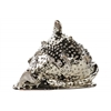 Ceramic Spiny Conch Seashell Figurine Polished Chrome Finish Silver