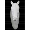 Porcelain Horse Head Wall Decor Gloss Finish White