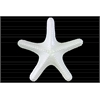 Ceramic Callous Sea Star Figurine LG Gloss Finish White