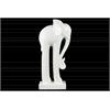Ceramic Standing Long-legged Elephant Figurine on Base LG Matte Finish White